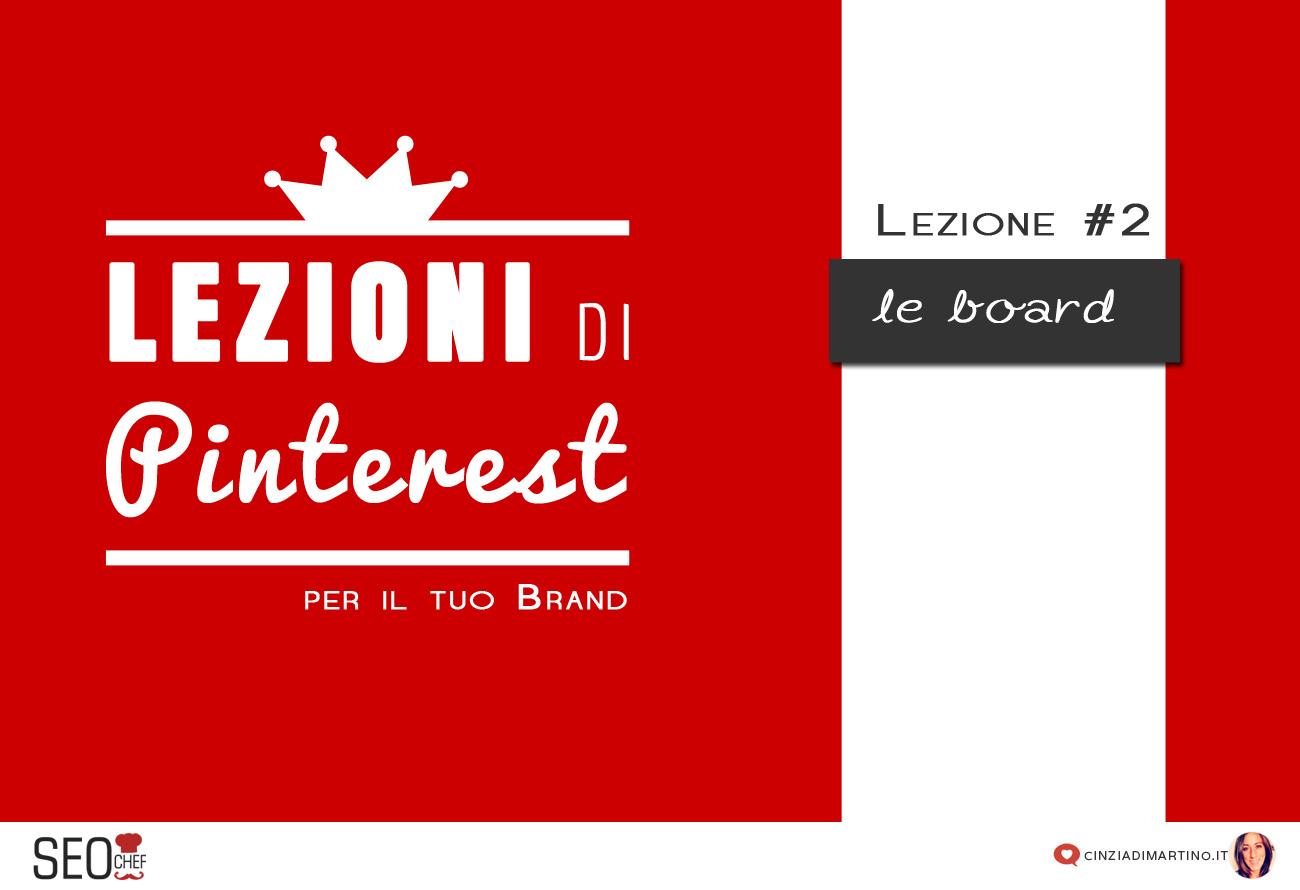 Pinterest per i business: board e organizzazione dei contenuti