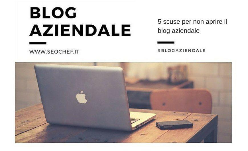 blog aziendale le scuse