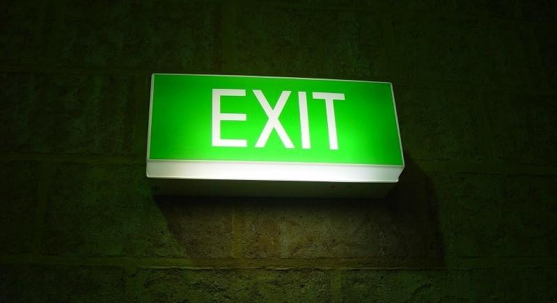 Utenti che si cancellano dalla mailing: insegna exit