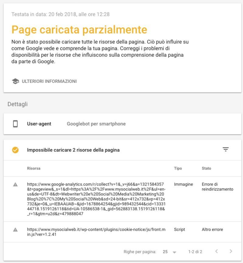 test mobile google
