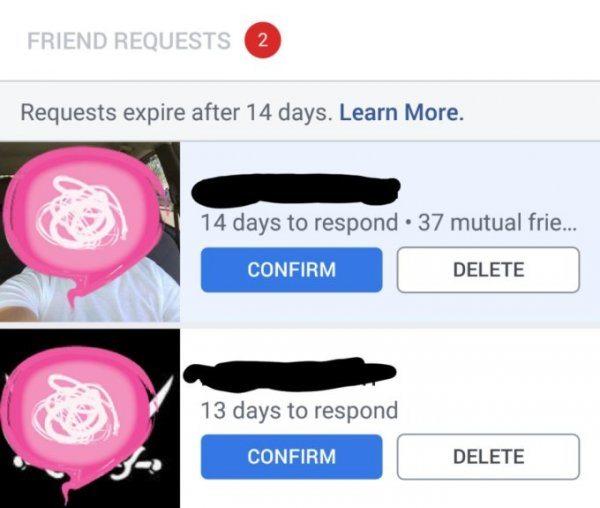 richieste di amicizia su Facebook a scomparsa devi decidere entro 14 giorni