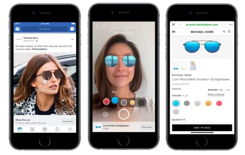 Realtà aumentata su Facebook nelle pubblicità